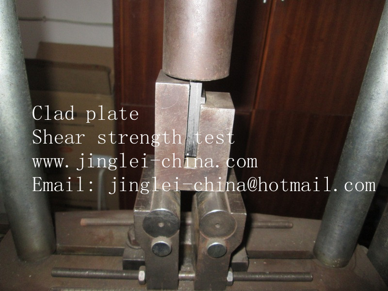 clad plate shear strength test